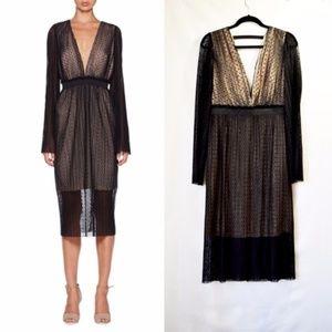 NWOT Revolve Bec & Bridge Overlay V-neck Dress